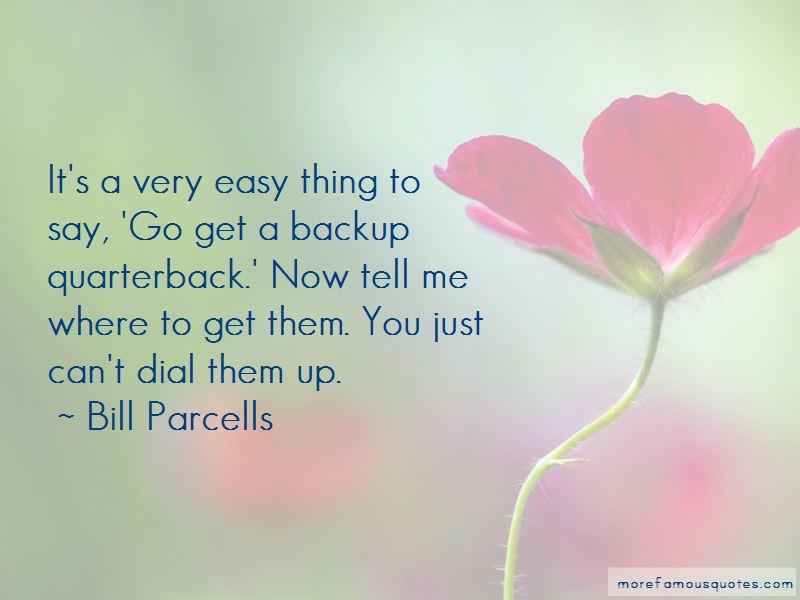 Backup Quarterback Quotes