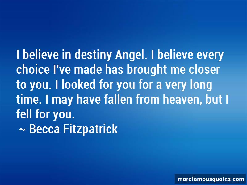 Believe In Destiny Quotes