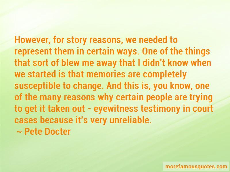 Court Testimony Quotes