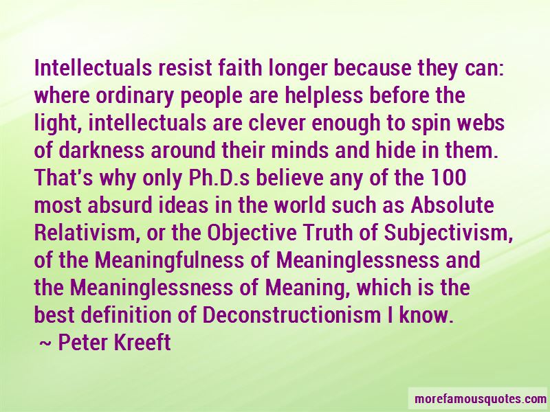 Deconstructionism Quotes