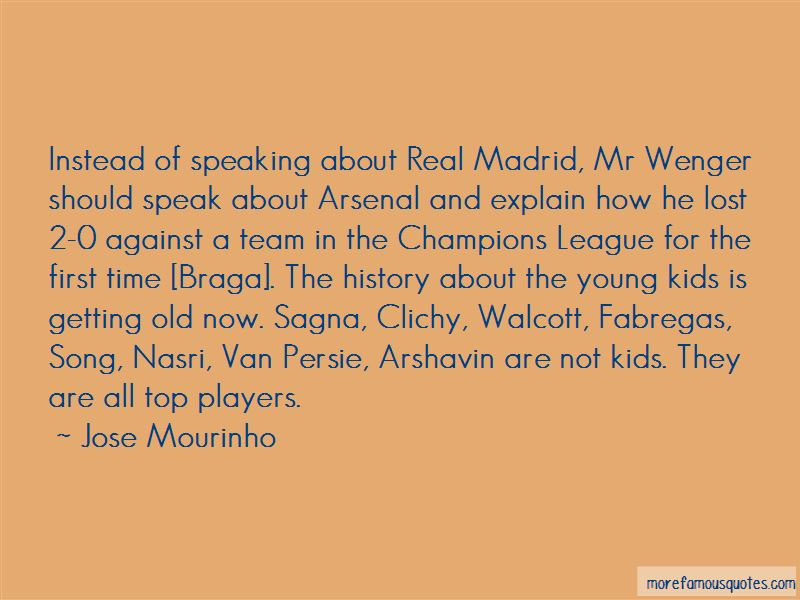 Fabregas Arsenal Quotes
