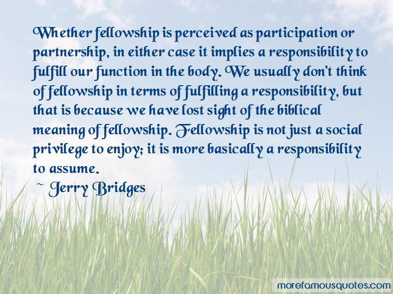 Fellowship Biblical Quotes