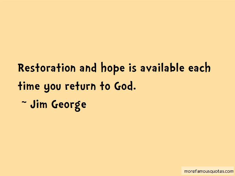 God Of Restoration Quotes