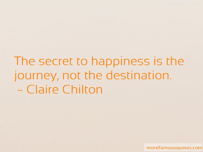 Happiness Is The Journey Not The Destination Quotes