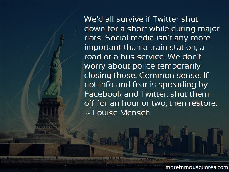 If Facebook Shut Down Quotes