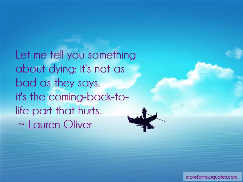 If Something Hurts You Quotes
