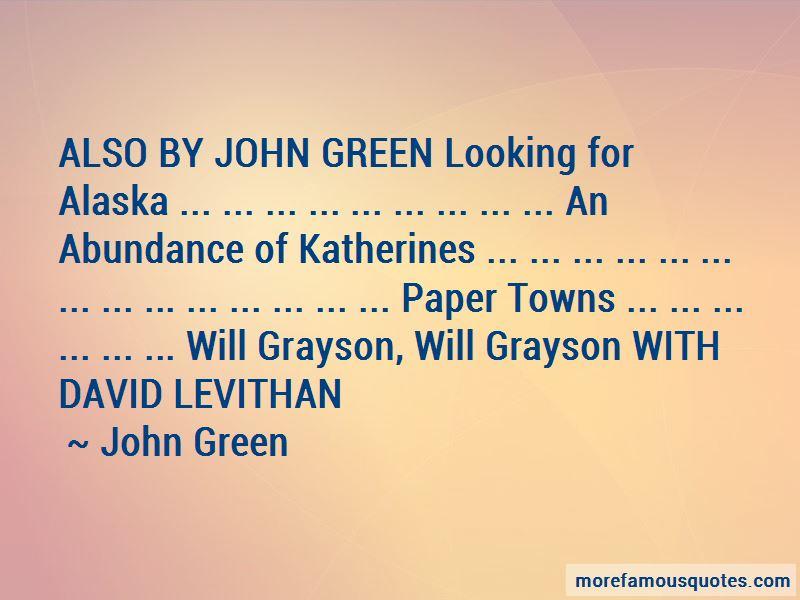 John Green Abundance Katherines Quotes