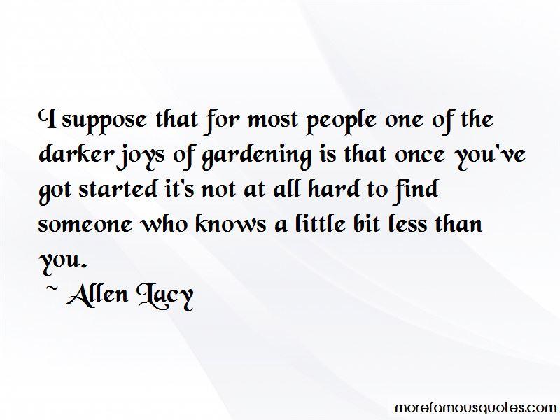 Joys Of Gardening Quotes