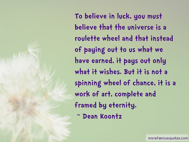 Luck You Quotes