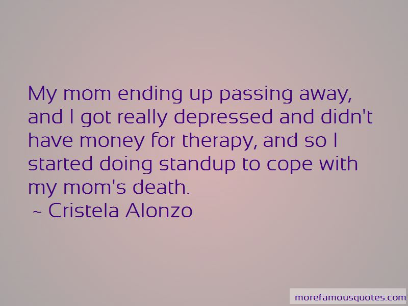 Mom's Death Quotes: top 6 quotes about Mom's Death from famous authors