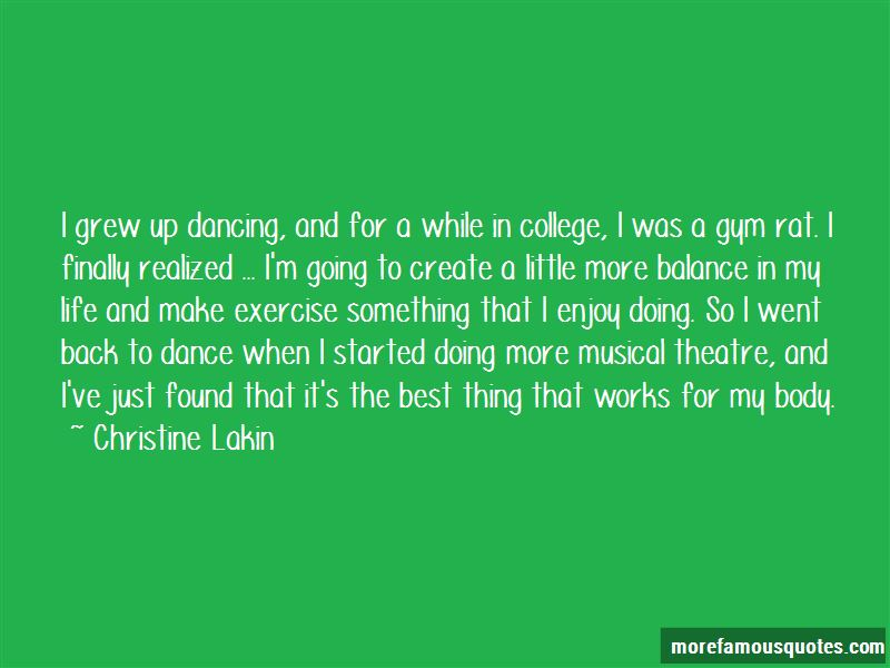 Musical Theatre Dance Quotes: top 5 quotes about Musical ...