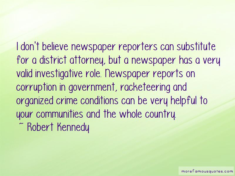Newspaper Reports Quotes