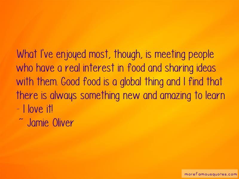 Sharing Good Food Quotes