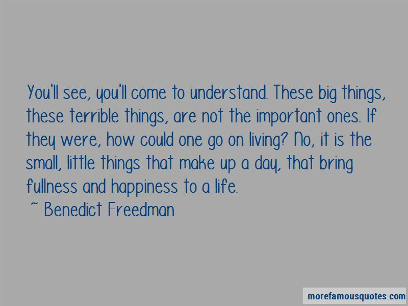 Small Things Bring Happiness Quotes