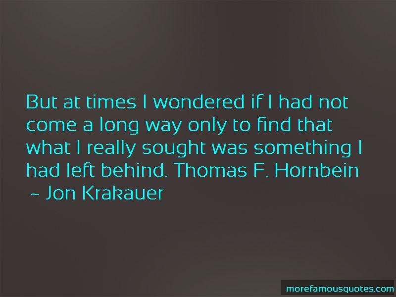 Thomas Hornbein Quotes