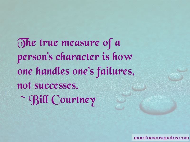 True Measure Of Character Quotes
