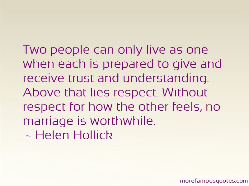 Trust And Respect In Marriage Quotes: top 3 quotes about ...