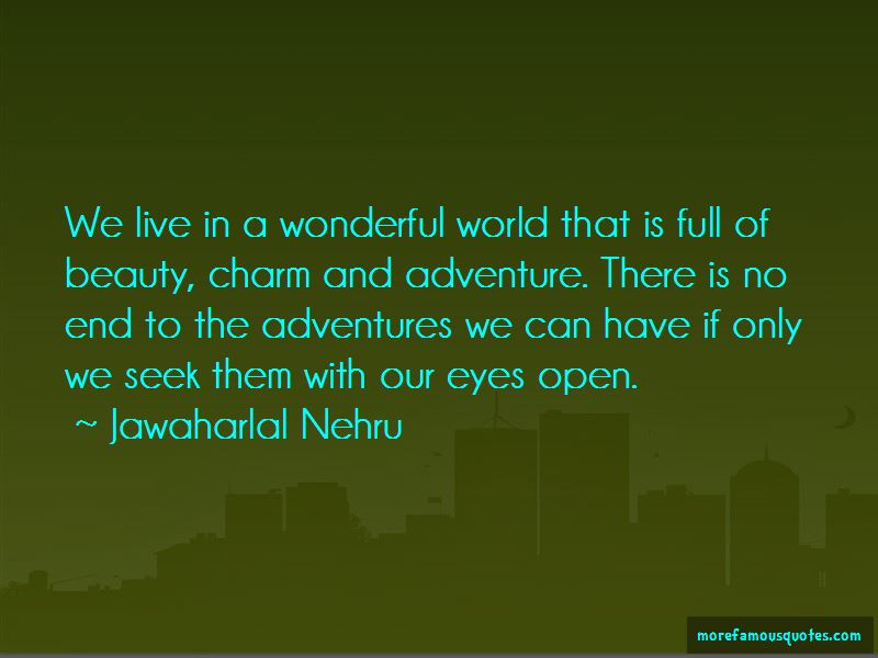 We Live In A Wonderful World Quotes