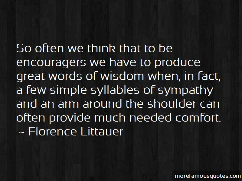 Words Of Comfort And Sympathy Quotes