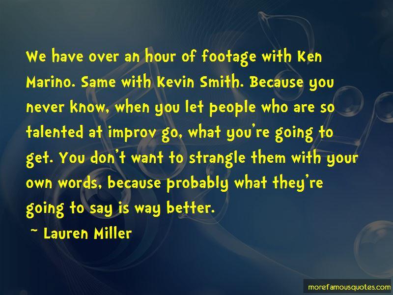 Kevin Marino Quotes