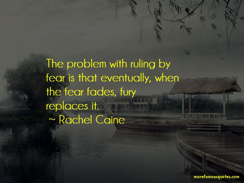 Ruling In Fear Quotes