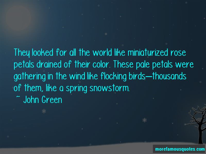 Spring Snowstorm Quotes
