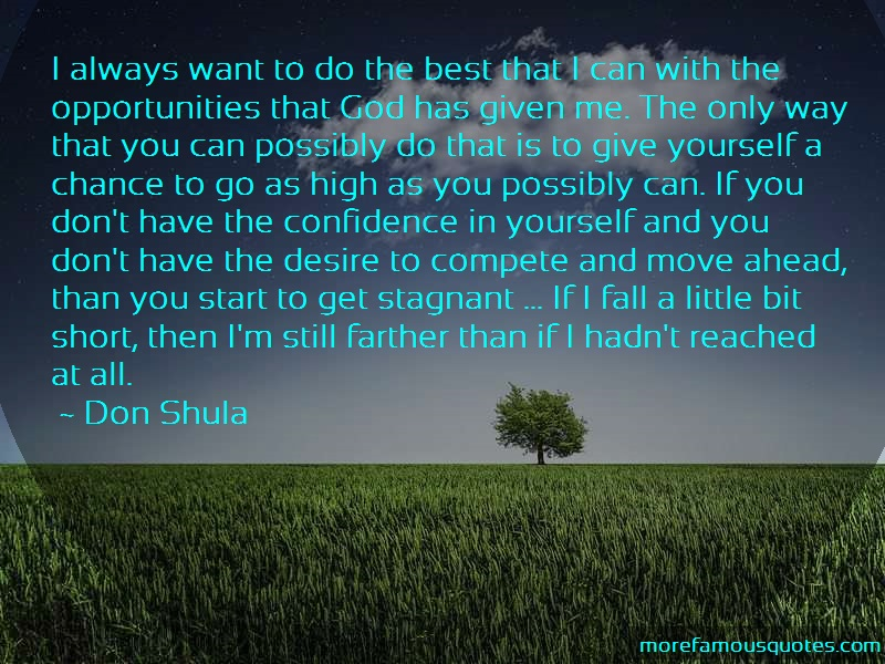 Don Shula Quotes: I always want to do the best that i can