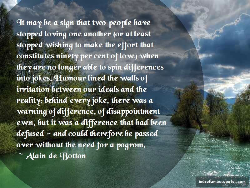 Alain De Botton Quotes: It may be a sign that two people have