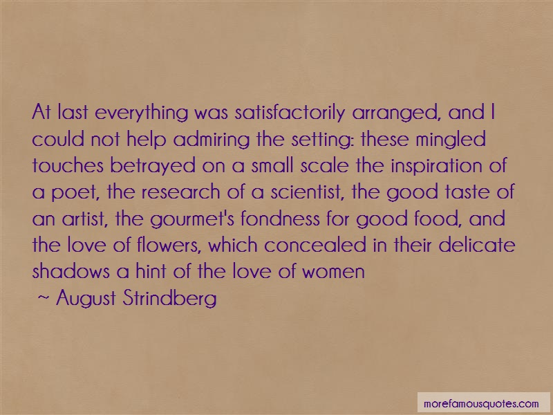 August Strindberg Quotes: At Last Everything Was Satisfactorily