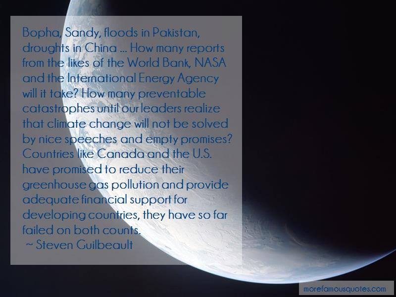 Steven Guilbeault Quotes: Bopha sandy floods in pakistan droughts