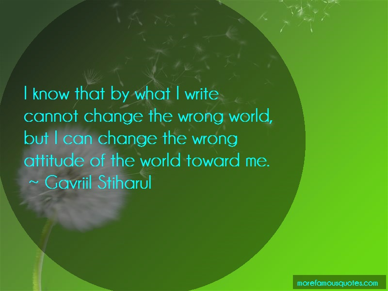 Gavriil Stiharul Quotes: I know that by what i write cannot