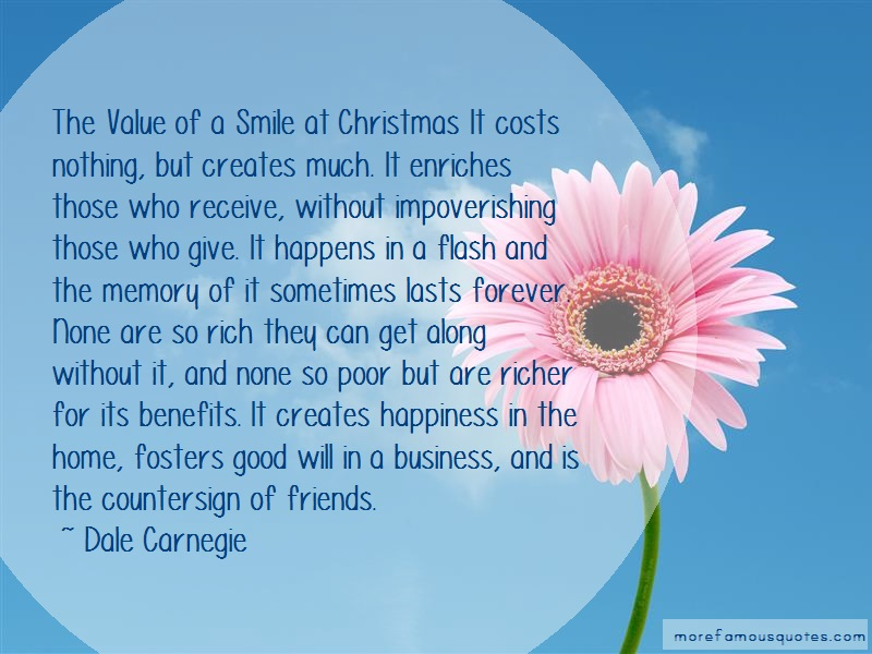 Dale Carnegie Quotes: The Value Of A Smile At Christmas It