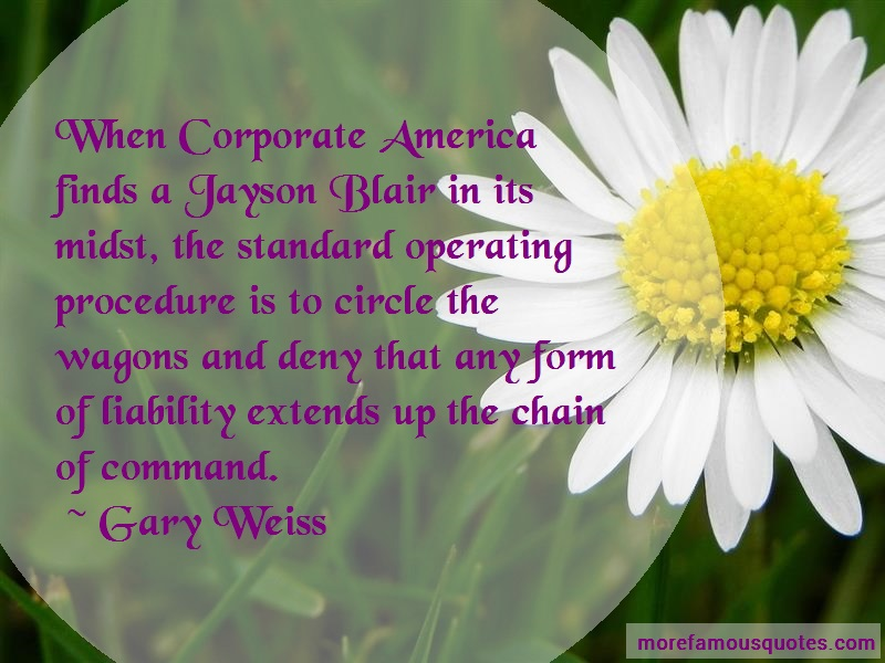 Gary Weiss Quotes: When Corporate America Finds A Jayson