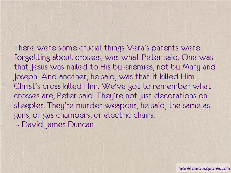 David James Duncan Quotes: There Were Some Crucial Things Veras