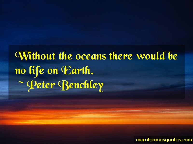 Peter Benchley Quotes: Without the oceans there would be no