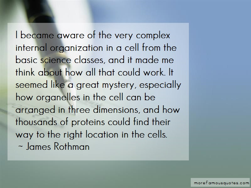 James Rothman Quotes: I Became Aware Of The Very Complex