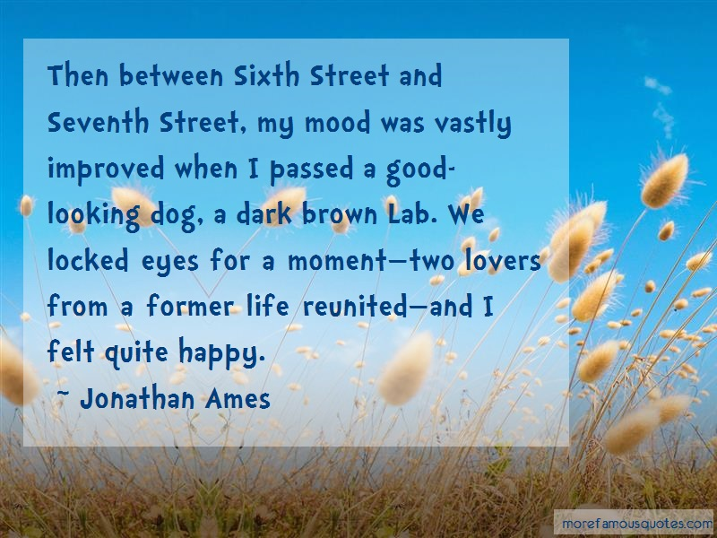 Jonathan Ames Quotes: Then between sixth street and seventh