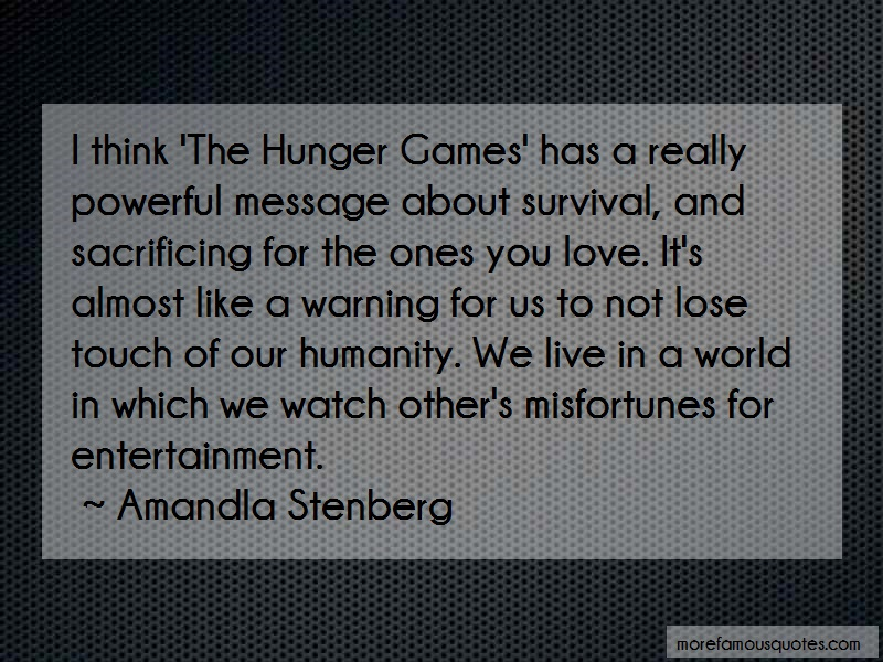 Amandla Stenberg Quotes: I Think The Hunger Games Has A Really