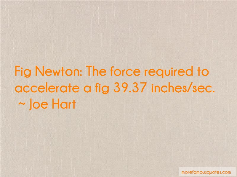 Joe Hart Quotes: Fig Newton The Force Required To