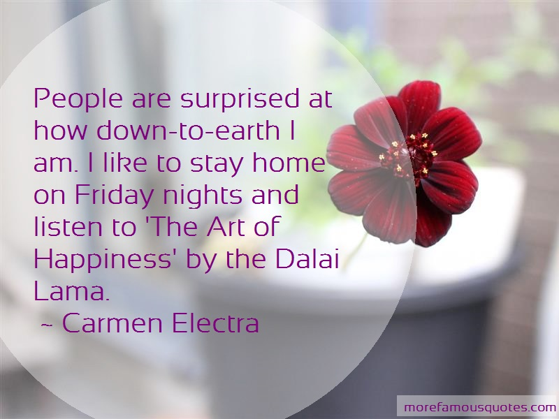 Carmen Electra Quotes: People Are Surprised At How Down To