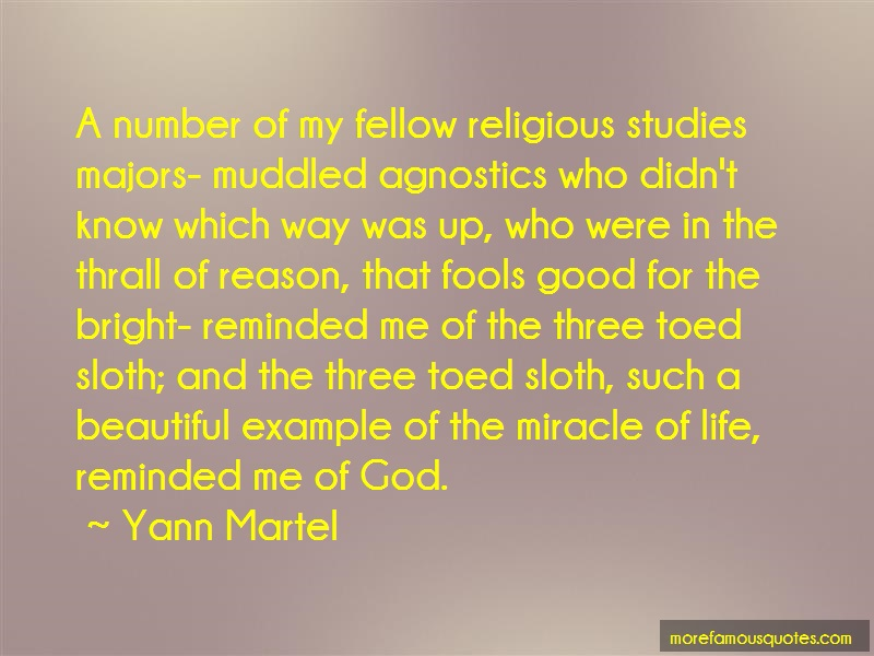 Yann Martel Quotes: A number of my fellow religious studies