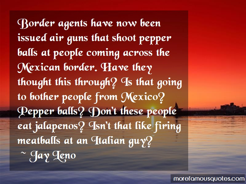 Jay Leno Quotes: Border agents have now been issued air