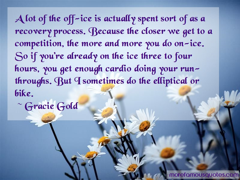 Gracie Gold Quotes: A Lot Of The Off Ice Is Actually Spent