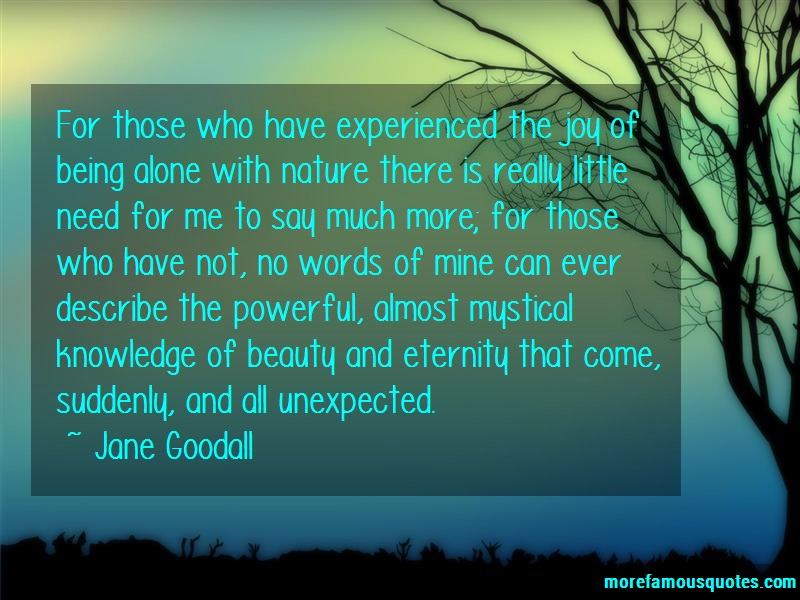 Jane Goodall Quotes: For Those Who Have Experienced The Joy