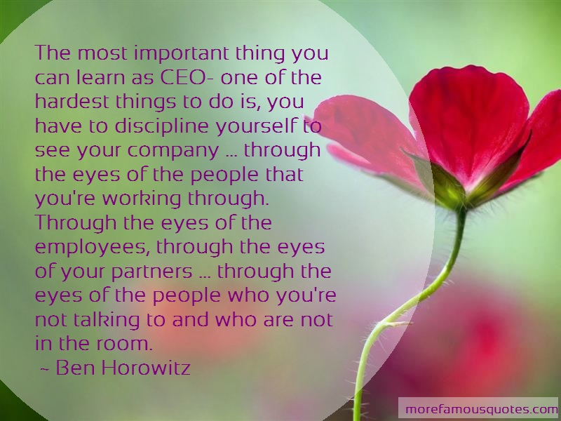 Ben Horowitz Quotes: The Most Important Thing You Can Learn