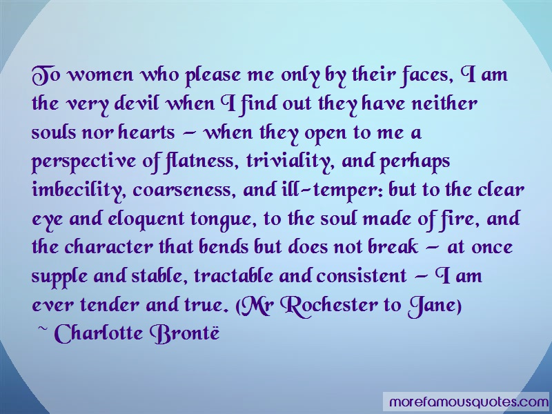 Charlotte Brontë Quotes: To Women Who Please Me Only By Their