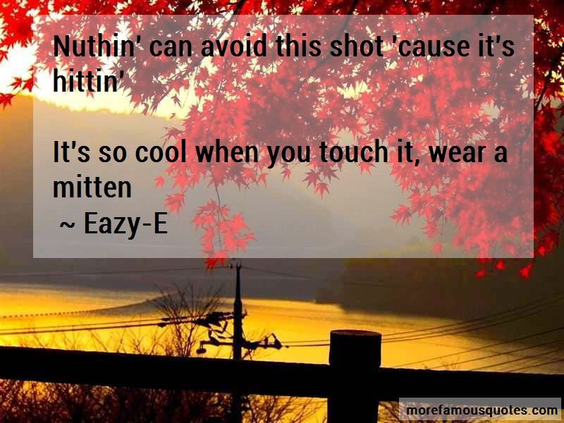 Eazy-E Quotes: Nuthin Can Avoid This Shot Cause Its