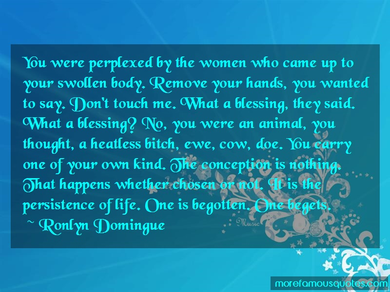 Ronlyn Domingue Quotes: You Were Perplexed By The Women Who Came