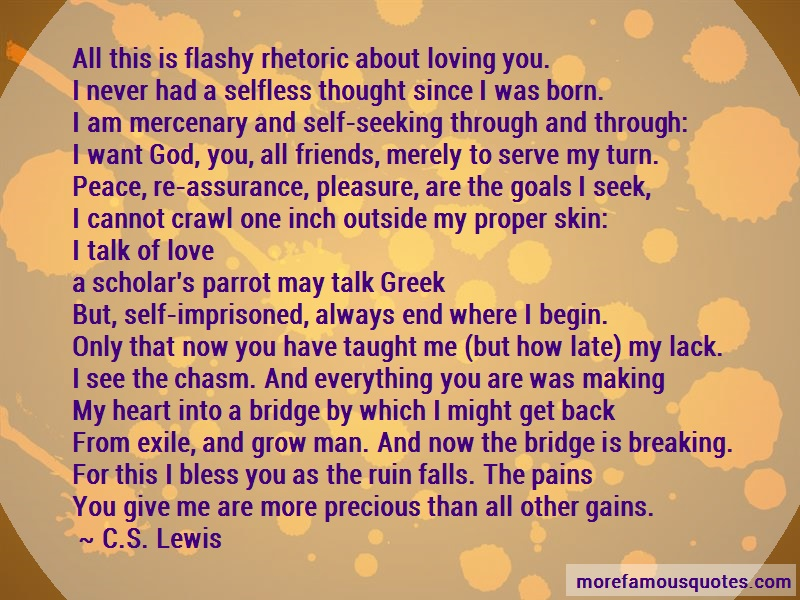 C.S. Lewis Quotes: All This Is Flashy Rhetoric About Loving