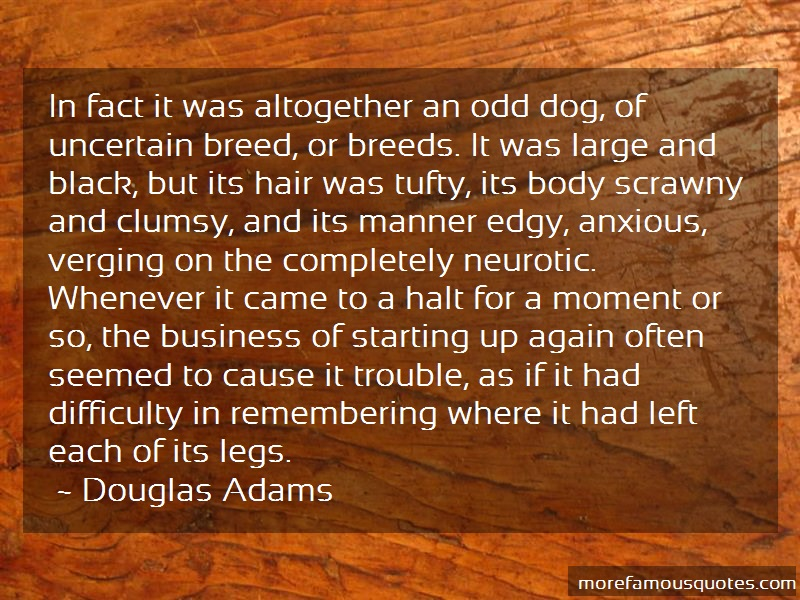 Douglas Adams Quotes: In fact it was altogether an odd dog of